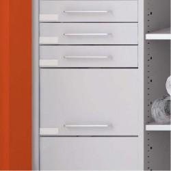 Hauteur tiroirs de 100, 150 ou 300mm