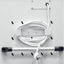 Poignées des deux côtés et range câble